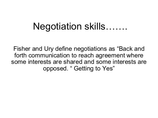 negotiation skill Take an effective influencing and negotiating skills course with communicaid, the world's leading provider of effective influencing and negotiating skills courses.