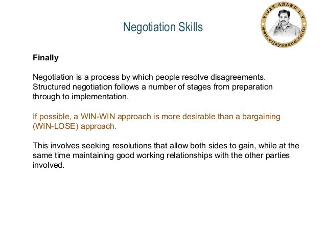 a course on negotiation skills Improve your ability to conduct negotiations with current knowledge and research and opportunities to practice and reflect on your skills.