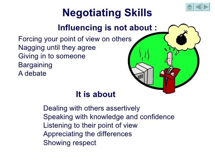 negotiation skills Teaching students how to negotiate can be a unique challenge this lesson provides different activities and games for students to learn the power.