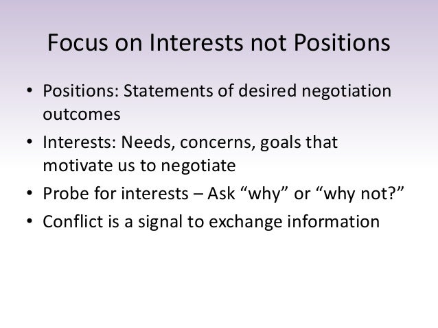 goal statement negotiations Setting negotiation goals prior to engaging in bargaining sessions with your  counterpart can help you keep your negotiating team on track.