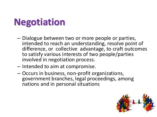 Negotiation occurs in business
