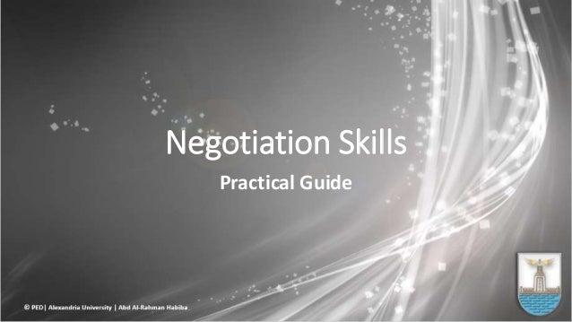 Negotiation Skills Practical Guide