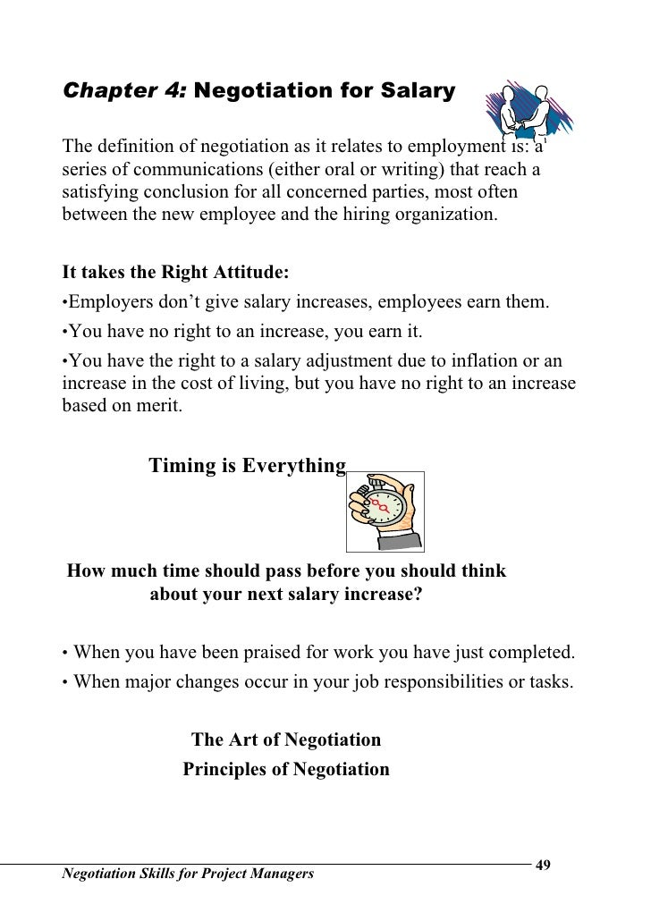 Negotiation skills for project managers for Salary negotiation email template