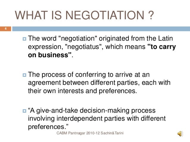 decision making and negotiation ppt