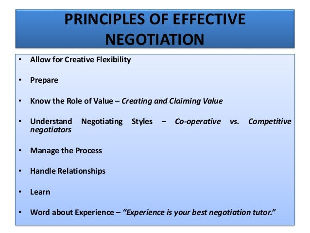 What is negotiation what are the two primary goals in the negotiation process