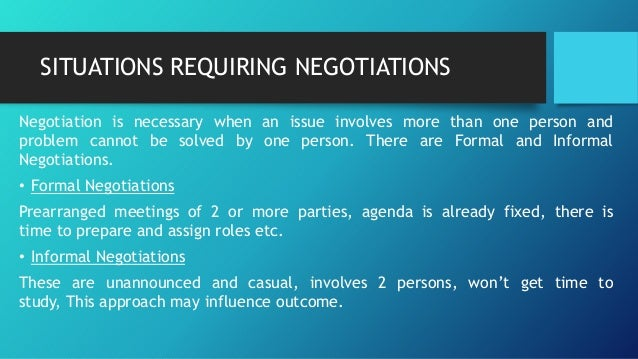 situational influences on negotiations We explore how situational factors moderate gender differences in negotiation we conduct a baseline study with mba students and 2 experiments with laboratory p.