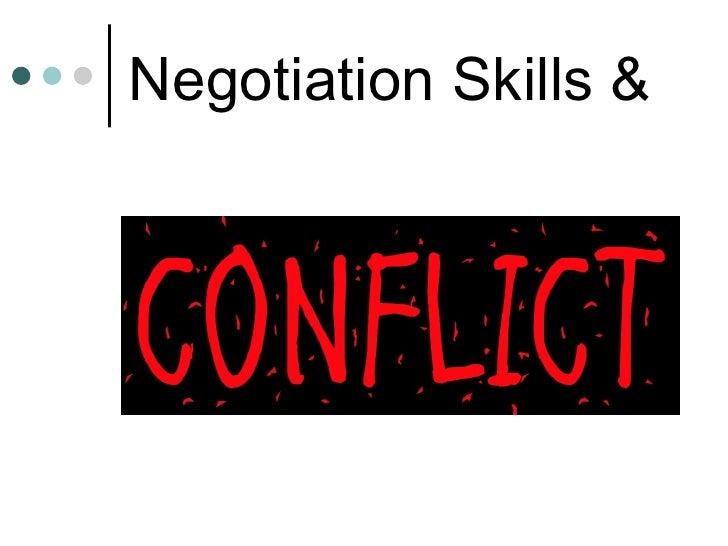 Negotiation Skills &
