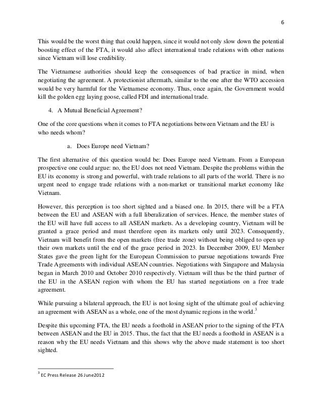 Negotiations On The Free Trade Agreement Between Vietnam And The Euro
