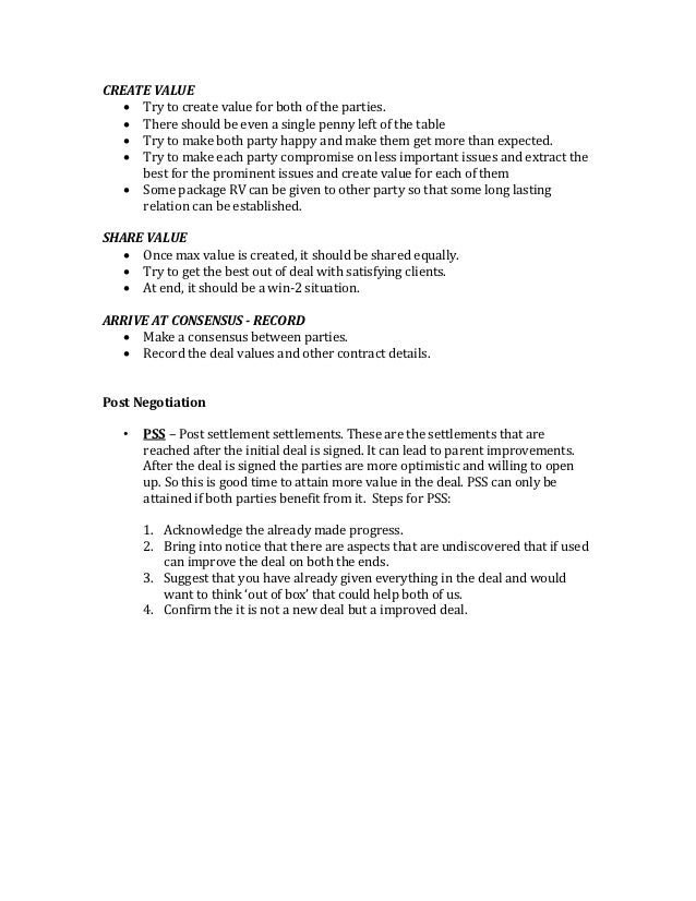 negotiations planning template
