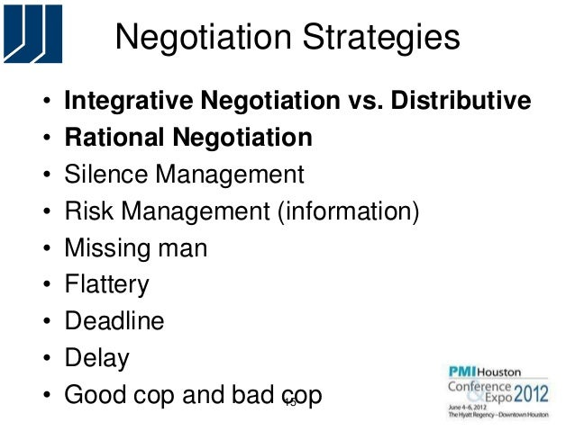 negotiation strategies and theories Brian anderson dr gayle pohl com 665 14 march 2014 negotiation strategies and theories most of us envision negotiations as a form of conflict where the outcome is.
