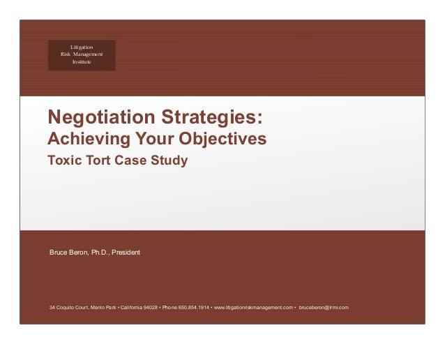 business claim analyze regarding negotiation