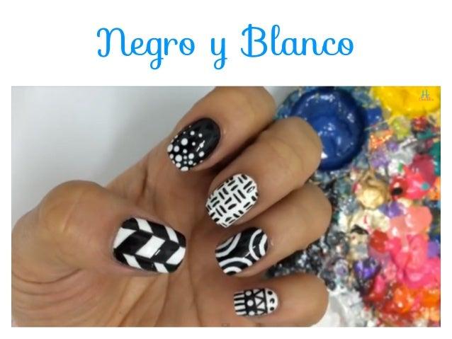 decoracion de uas blanco y negro black and white nail art