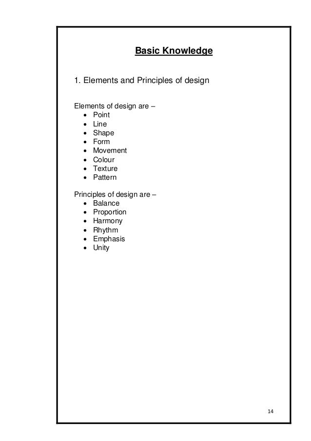 14 14 basic knowledge 1 elements and principles of design - Basic Elements Of Interior Design