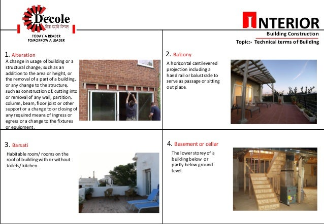 2 NTERIORI Building Construction Topic Technical Terms