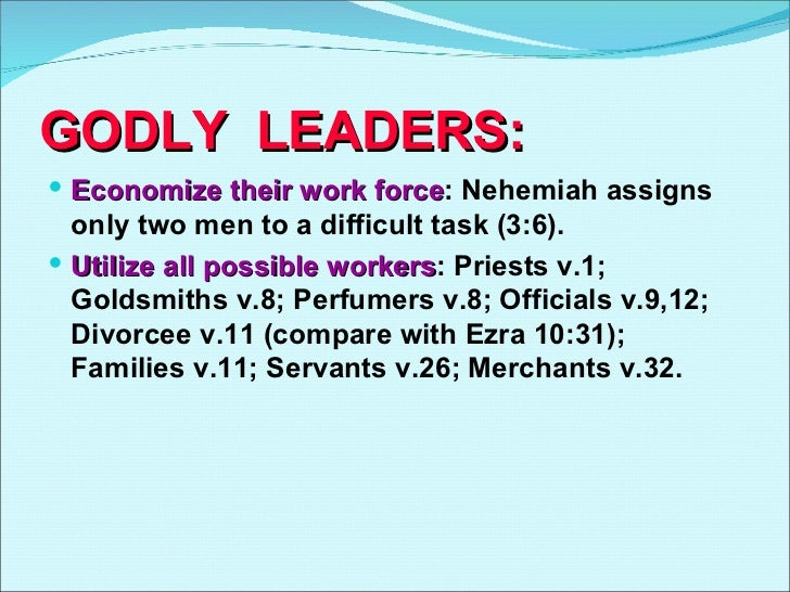 Nehemiah Leadership Principles