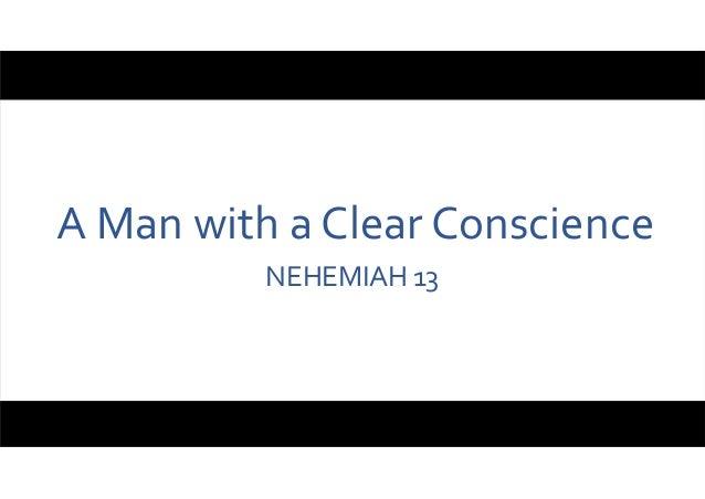 AManwithaClearConscience NEHEMIAH13