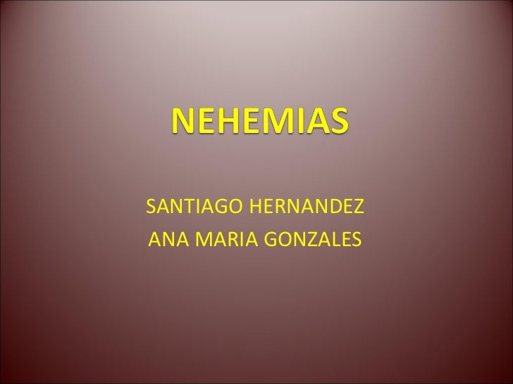 SANTIAGO HERNANDEZANA MARIA GONZALES