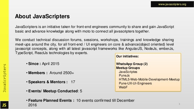 JavaScripters Event on Sep 10, 2016 · 10:30 AM: The absolute