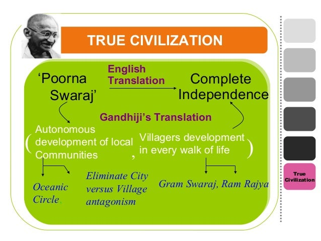 gandhi concept of development A gandhian critique is, of course, a critique done from a gandhian economic  position, that is erom the perspective of gandhian economic philosophy so at  the.