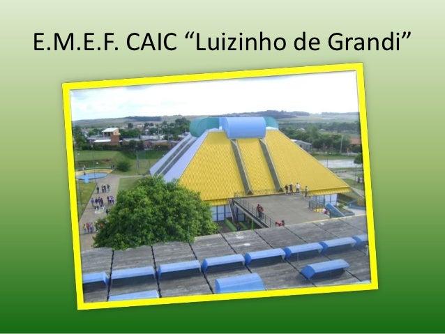 """E.M.E.F. CAIC """"Luizinho de Grandi"""""""