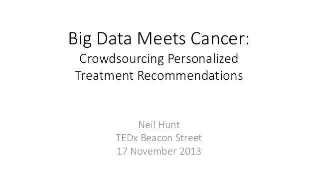 Big Data Meets Cancer: Crowdsourcing Personalized Treatment Recommendations Neil Hunt TEDx Beacon Street 17 November 2013