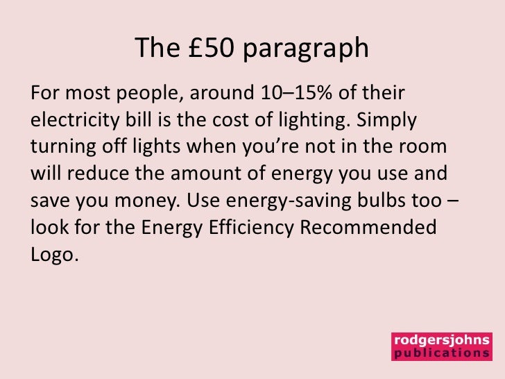 paragraph on save energy