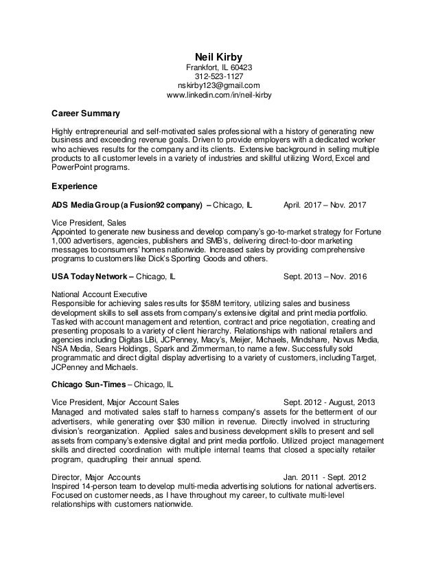 neil kirby resume 12 2017