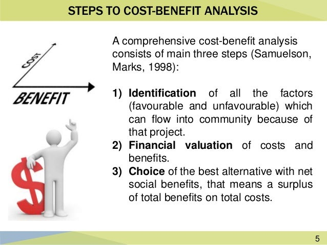 5. 5 STEPS TO COST BENEFIT ANALYSIS A Comprehensive ...