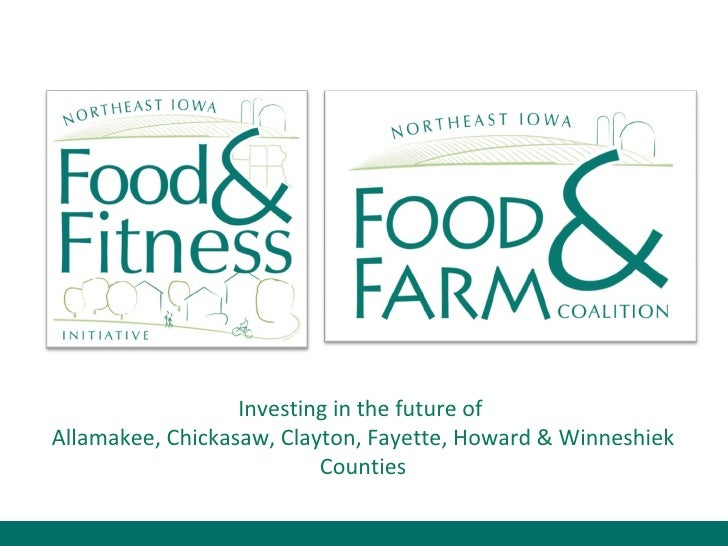 Investing in the future of  Allamakee, Chickasaw, Clayton, Fayette, Howard & Winneshiek Counties
