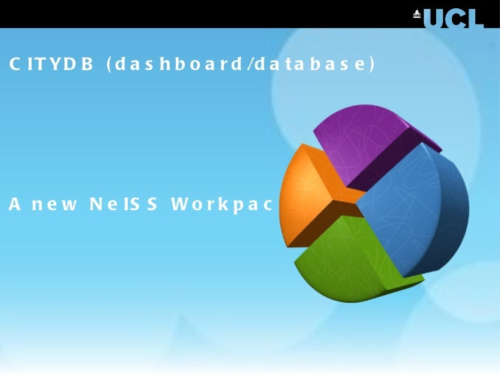 CITYDB (dashboard/database) A new NeISS Workpackage
