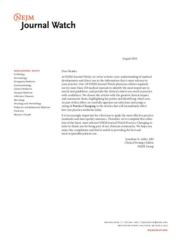 Nejm journal watch practice changing articles 2014