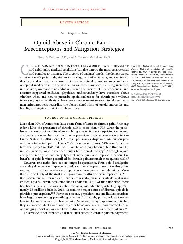 opioid abuse in chronic pain
