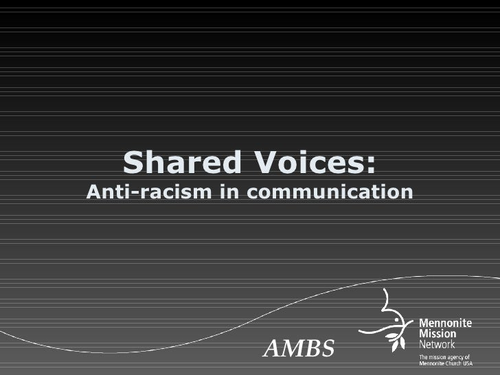 Shared Voices: Anti-racism in communication AMBS