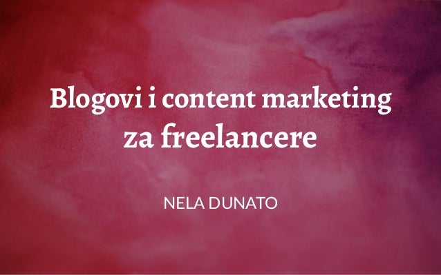 Blogovi i content marketing za freelancere NELA DUNATO