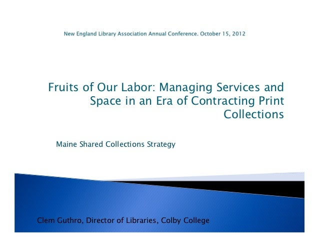 Fruits of Our Labor: Managing Services and           Space in an Era of Contracting Print                                 ...