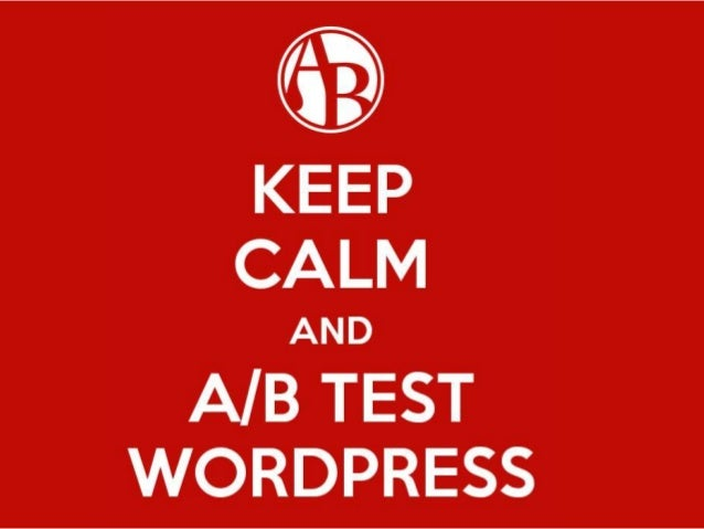 Introduction to Conversion Optimization - Nelio A/B Testing for WordP… slideshare - 웹