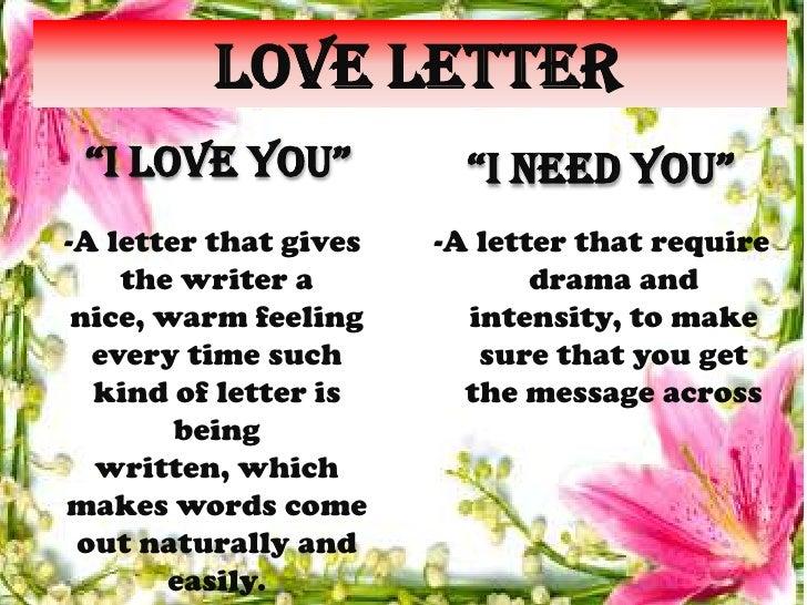 Missing love letter
