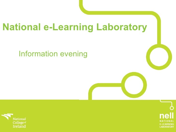 Information evening  National e-Learning Laboratory