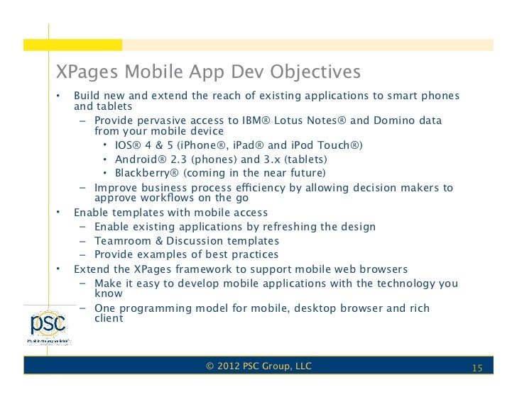 lotus notes database templates - nelotus xpages mobile controls