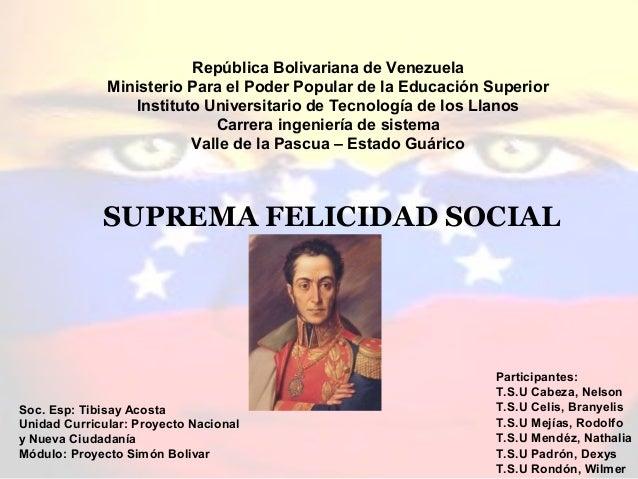 República Bolivariana de Venezuela Ministerio Para el Poder Popular de la Educación Superior Instituto Universitario de Te...