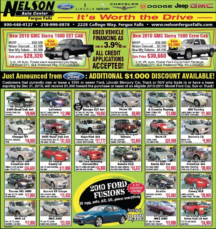 Nelson Auto Center Ford Specials Fergus Falls MN
