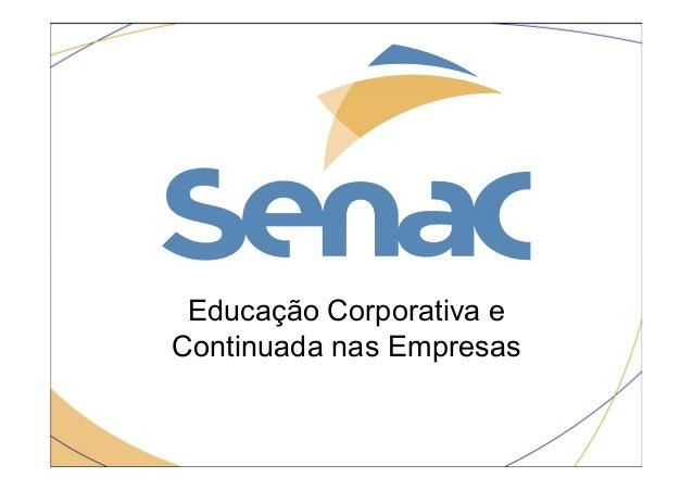 Educação Corporativa e Continuada nas Empresas