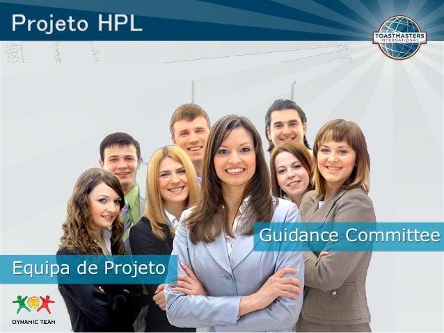 Guidance Committee Equipa de Projeto