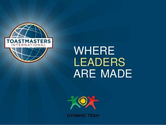 Toastmasters High Performance Leadership