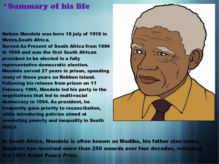 the life works and influence of nelson mandela Unlike most editing & proofreading services, we edit for everything: grammar, spelling, punctuation, idea flow, sentence structure, & more get started now.