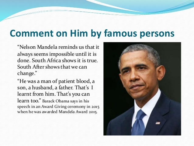"""summary of nelson mandelas inaugural speech, glory and hope essay A custom essay sample on for you for only $1638 $139/page order  now """"glory and hope"""" was nelson mandela's 1 994 inaugural speech as the  first  elected state president of south africa, nelson mandela planned to ease  the."""