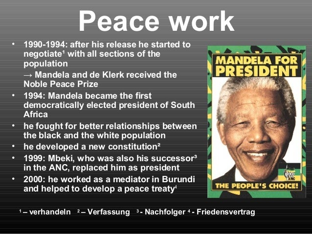 nelson mandela power point presentation - Nelson Mandela Lebenslauf Kurz