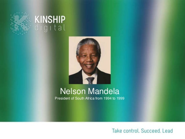 Nelson Mandela President of South Africa from 1994 to 1999