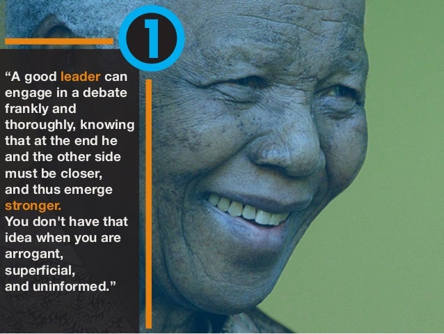 5 Leadership Lessons from Nelson Mandela Slide 2