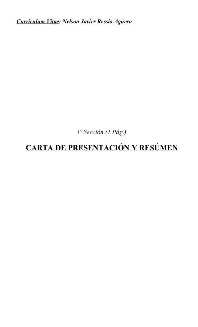Currículum Vitae (Nelson Ressio)